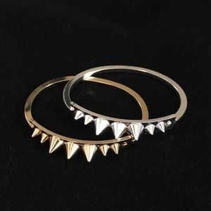 Jewelry - Spiked bracelets gold and silver